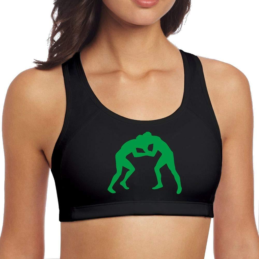 Womens Wrestling Clipart Fashion Crop Top Yoga Bra