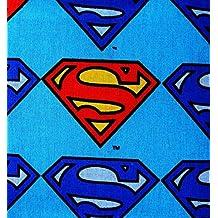 FAT QUARTERS DC COMICS SUPERMAN 100% COTTON FABRIC