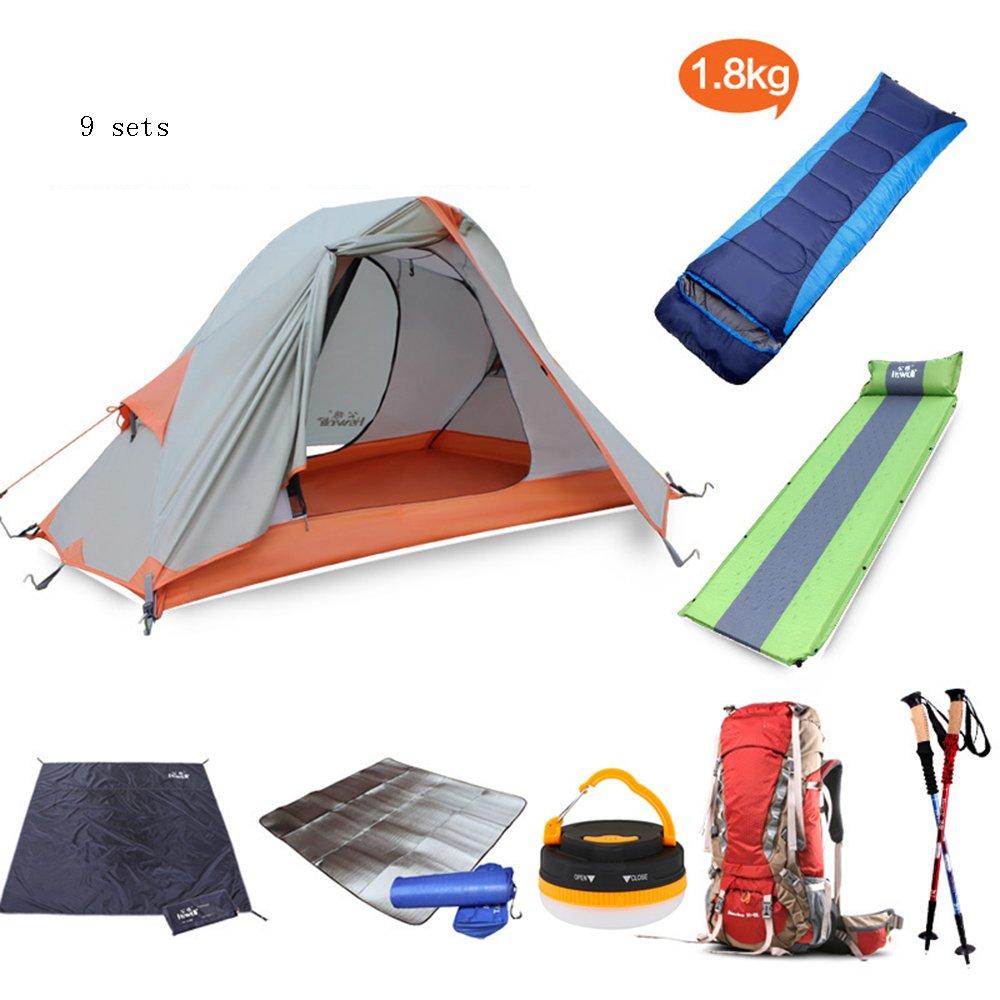 QFFL zhangpeng テント二重アルミポールテント屋外のシングルキャンプアンチ嵐の雨テント四季乗馬装置のテントセット トンネルテント (色 : D)  D B07C4T3F54
