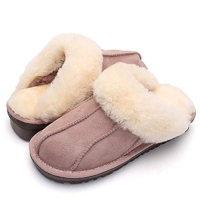 VENSHINE Womens Mens Wool and Sheepskin Slipper Fur Lining Fluffy Indoor House Slipper | Slippers