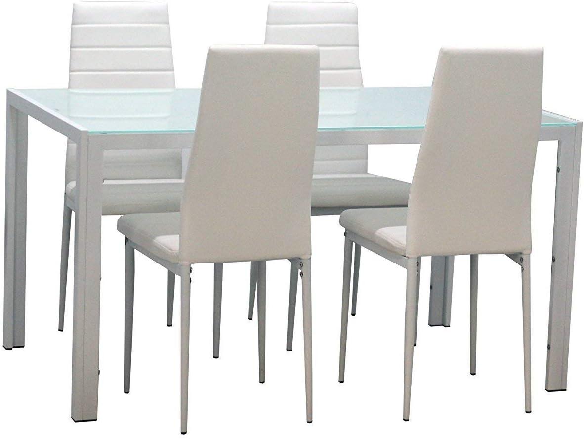 Dining Table / Chair Set Glass / Metal Amazon.de Küche & Haushalt