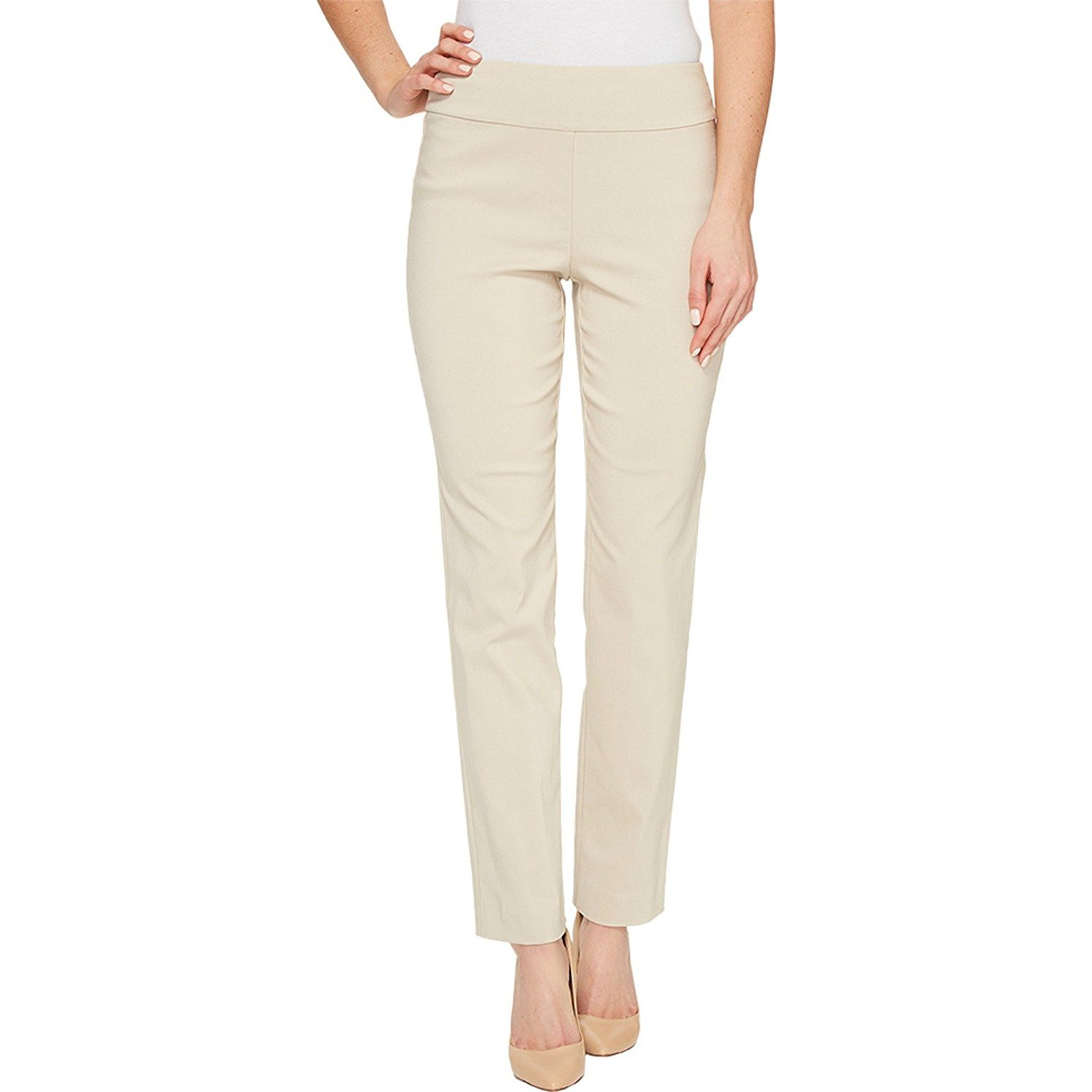 Krazy Larry Women's Pull On Ankle Pant Ivory Size 12