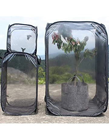 Insecto y mariposa Hábitat Jaula Terrario Incubadora de malla plegable Caja de almacenamiento Paño Ventilar Insecto