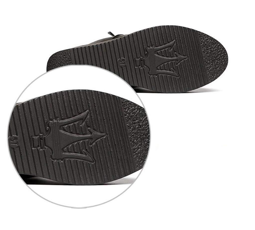 XHCP XHCP XHCP Lange Stiefel, Herbstlich Und Winter Dicker Boden, Seitliche Reißverschluss Stiefel, Hohe Knie, Damen-Plus Samt Stiefel,36 5de449