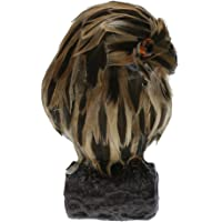 MagiDeal 1 X Artificial Owl Bird Feather Realistic Taxidermy Garden Decor, Extremely Realistic, Highly Detailed ornamen