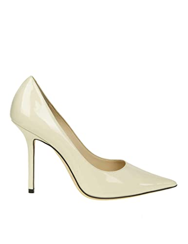 30941edff4e Image Unavailable. Image not available for. Color  JIMMY CHOO Women s  Love100pat White Leather Pumps