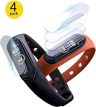 ELYCO para Xiaomi Mi Smart Band 4 Protector de Pantalla, [4 Piezas] Transparente TPU [Anti-despegamientos] Alta Definicion Anti-Explosion Protector de Pantalla para Xiaomi Mi Band 4: Amazon.es: Electrónica