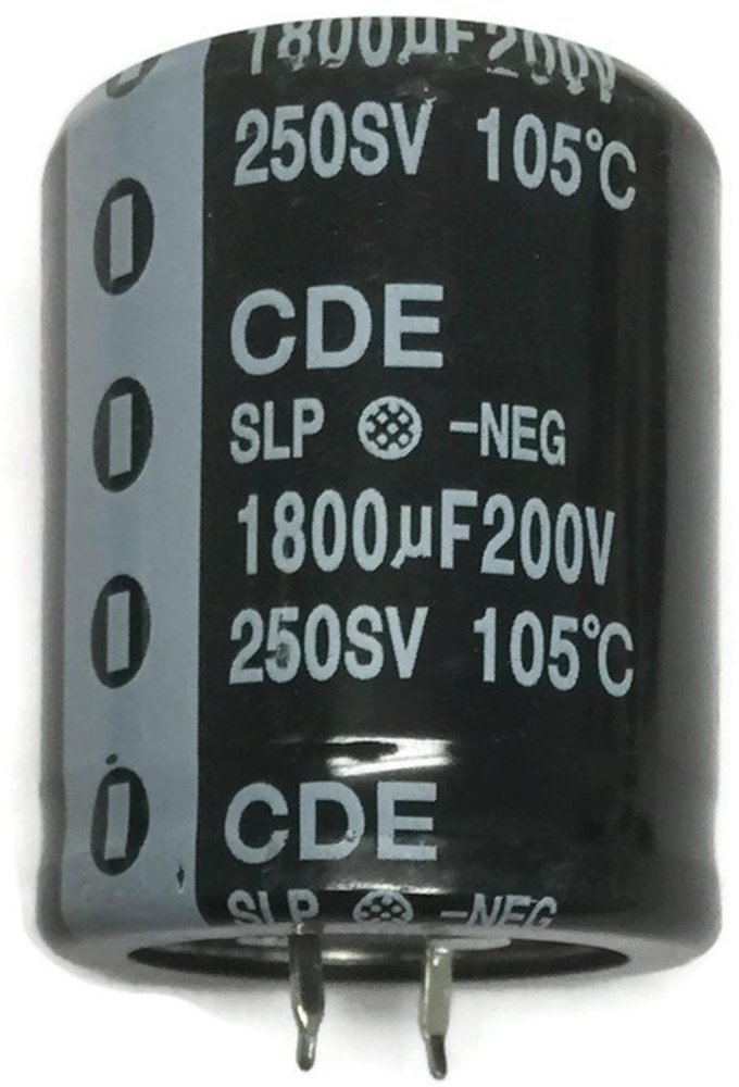 1x 1800uF 200V Large Can Electrolytic Capacitor 1800mfd 200VDC 1,800 uF mfd