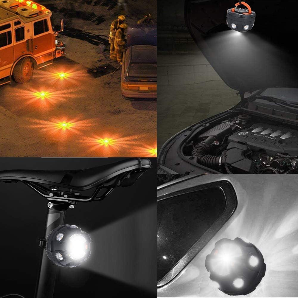 OWSOO Luz de Emergencia del Coche etc Luces de Advertencia de Noche con Base Magn/ética y Gancho para Advertencias de Emergencia//Prevenir Accidentes de Tr/áfico//Reparar Autom/óviles//Acampar
