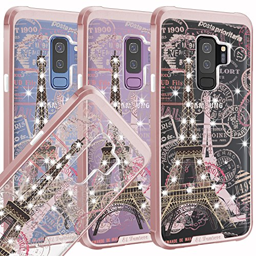 Samsung Galaxy S9 Plus [El Lumiere Airmax Sketch] Shockproof Air Cushioned Corners [Flexible & Durable TPU] Hybrid Protective Clear Case [Design Printed Transparent Back Cover] ()