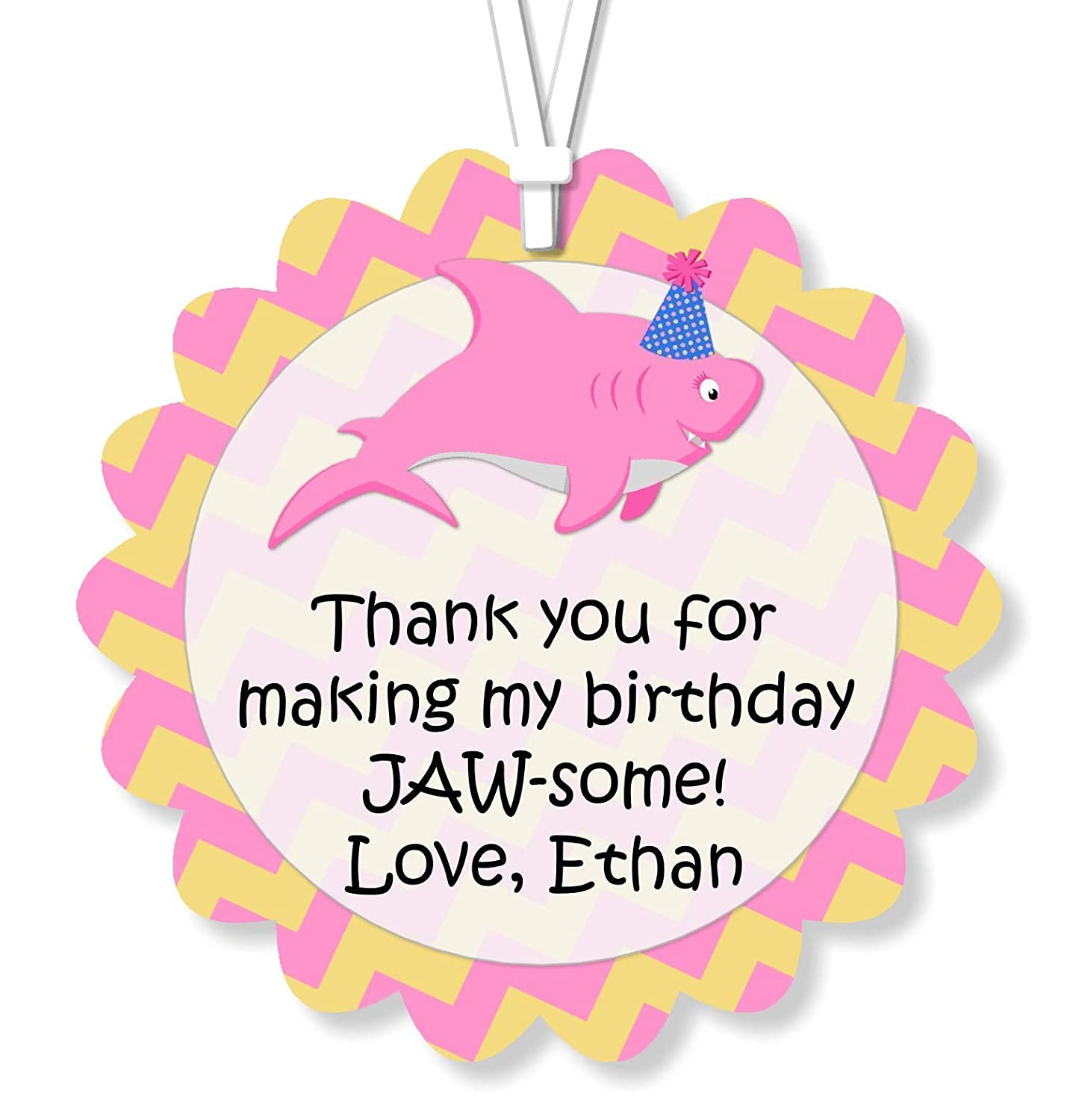 Pink Baby Shark Girl Favor with name Shark party decor Personalized Shark Party Favor Custom Shark Topper Shark Cake Topper Pink or Blue