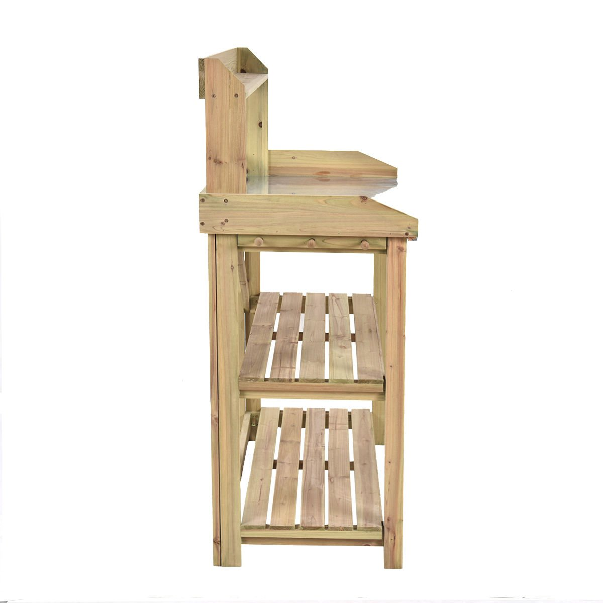 Bench Station Planting Workbench 3 Shelf Garden Wooden Potting Work Suitable for your gardening.