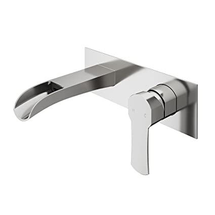 Charmant VIGO VG05004 Cornelius Solid Brass Wall Mounted Bathroom Sink Faucet,  Sinlge Handle Bathroom Faucets,
