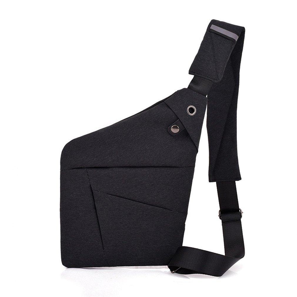 KIOESLKC Chest Bag For Men Single Bag Multifunctional Travel Male Crossbody Bag Black 23x2x32CM