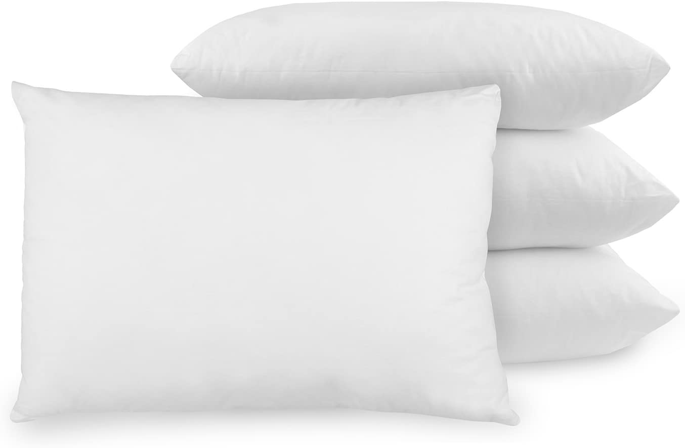 BioPEDIC 4-Pack Bed Pillows with Built-In Ultra-Fresh Anti-Odor Technology, Standard Size, White: Home & Kitchen