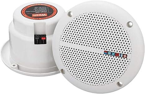 Baoblaze 1 Par Altavoz de Radio Impermeable Techo Pasivo Audio Parlante Blanco