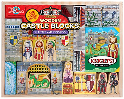T.S. Shure Archiquest Wooden Castle Blocks Playset and St...