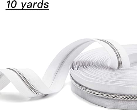 Zippers by the Roll Nylon WHITE 25 yards