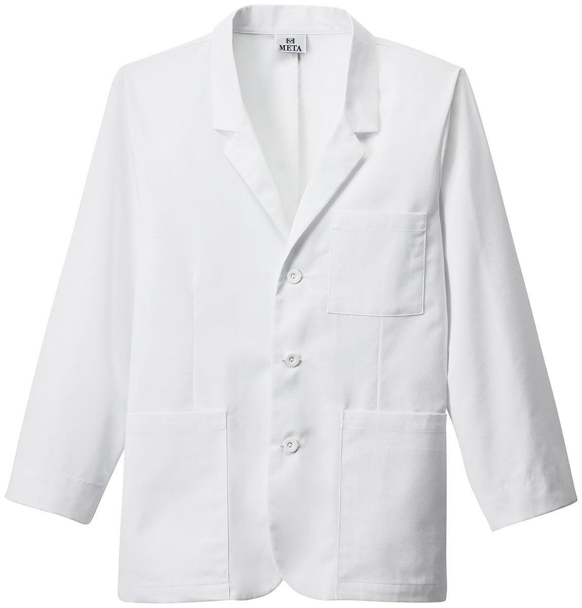 Meta Labwear Men's 30''; Consultation Lab Coat (White, 42)