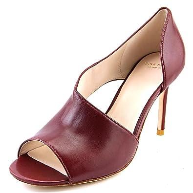 c666411165 Amazon.com | Cole Haan Viveca OT. Pump Women US 10 Burgundy Open Toe ...