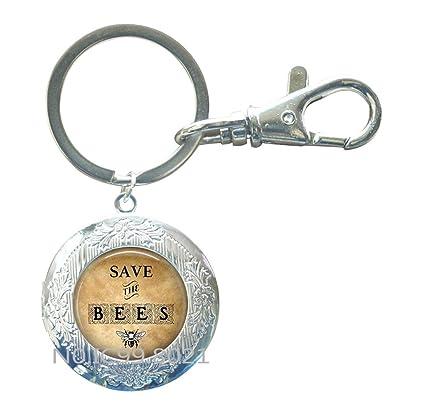 Llavero con diseño de camafeo de Save the Bees, joyería de ...