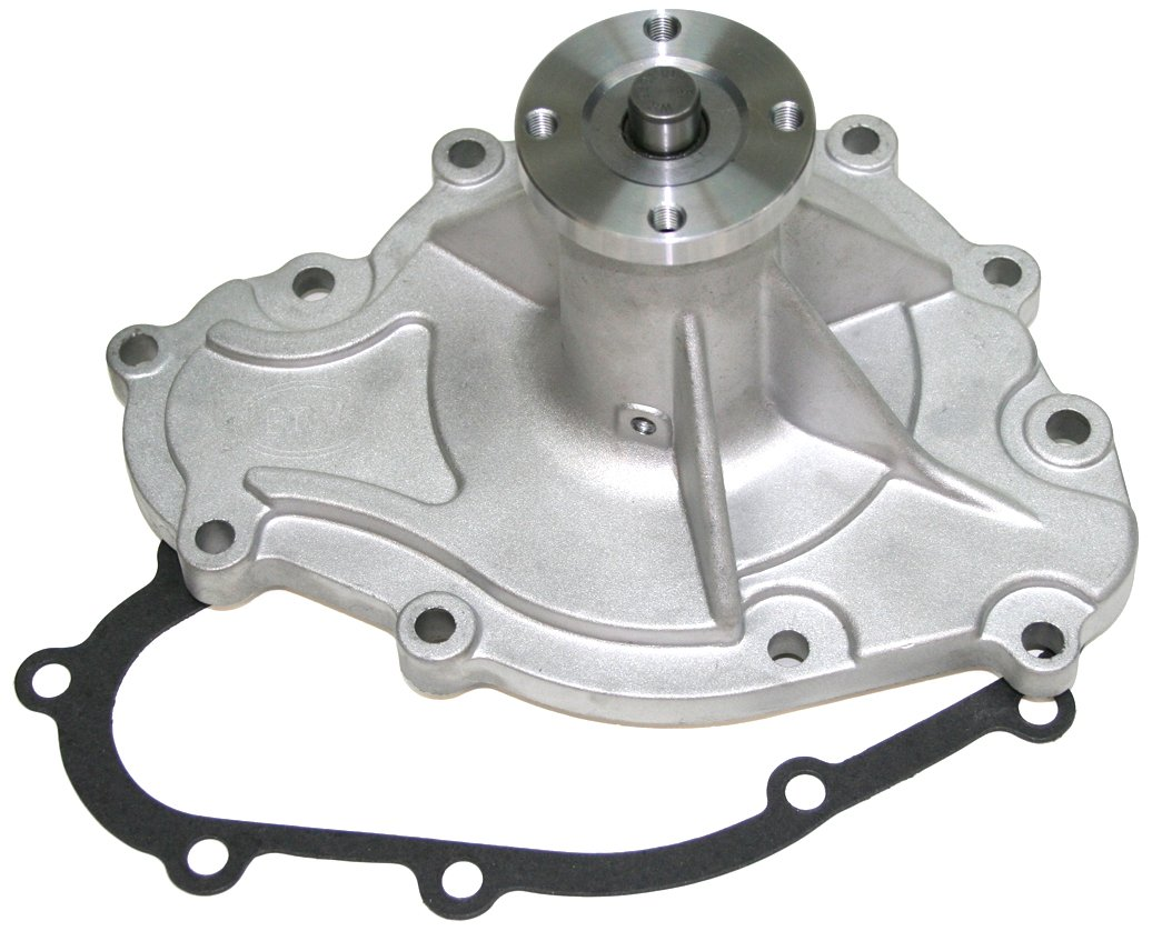 PRW 1445500 Performance Quotient As-Cast 5/8' Pilot Shaft High Flow Aluminum Water Pump for Pontiac 265-455 1969-79