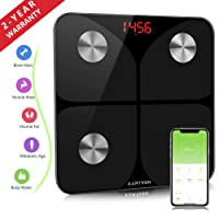Bluetooth Body Fat Smart Scales - Wireless Weighing Bathroom Scales, High Precision Measuring for Body Weight, Fat, BMI, Visceral Fat, Muscle Mass, Protein, etc, Smart APP for Fitness Tracking