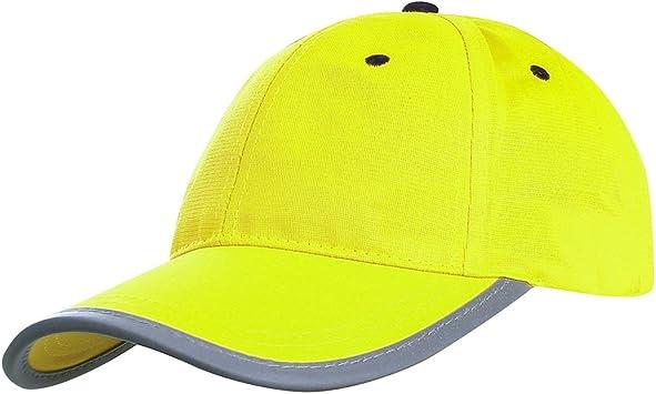 Gorra de béisbol reflectante de neón para seguridad y de alta ...