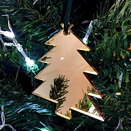 Super Cool Creations Árbol de Navidad con Espejo Rojo árbol de Navidad Decoraciones – Pack de 10: Amazon.es: Hogar