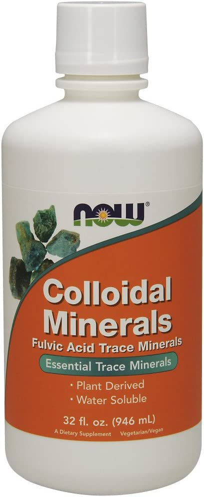 NOW Supplements, Colloidal Minerals Liquid, Plant Derived, 32-Ounce: Health & Personal Care