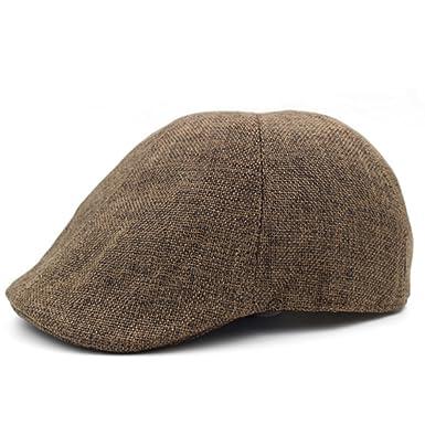 01838933044 Elderly Men Summer Cap Breathable Linen hat Refreshing Summer hat Outdoor  Grandpa hat Dad hat Forward-C One Size  Amazon.co.uk  Clothing