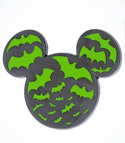 Disney Parks Halloween Time 2017 Mickey Mouse Ears Silhouette Bat Pin