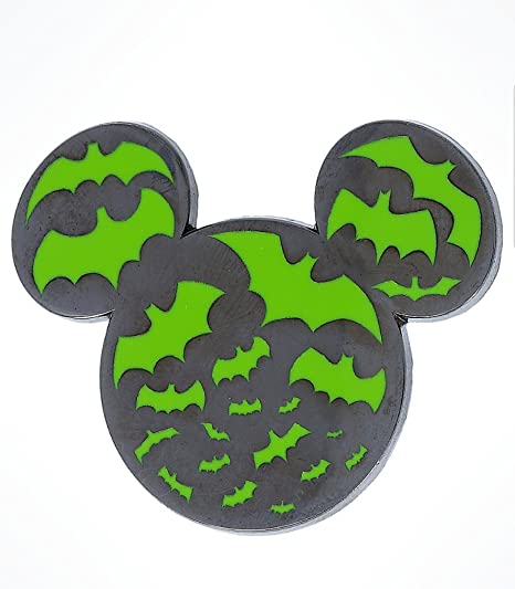 Amazon.com : Disney Parks Halloween Time 2017 Mickey Mouse Ears Silhouette Bat Pin : Everything Else