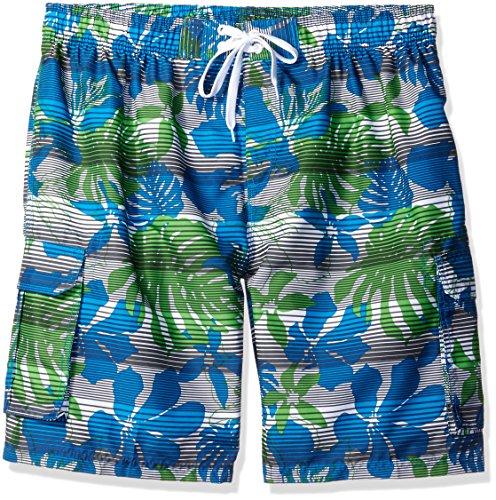 (Kanu Surf Men's Barracuda Swim Trunks (Regular & Extended Sizes), Paradise White, 3X)