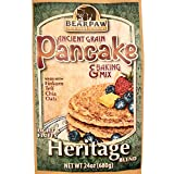 whole grain waffle mix - Bearpaw Ancient Grain Pancake Mix, Heritage Blend (24 ounce), Einkorn, Teff, Chia, Oats, 16% protein, BearpawGrains 861262000302