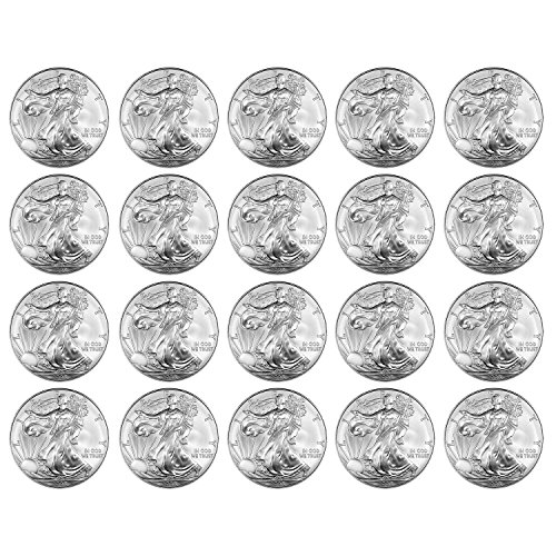 2008 Silver Eagle Set of 20 Brilliant -