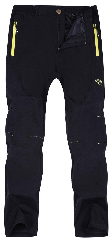 Singbring Men's Outdoor Lightweight Waterproof Hiking Mountain Pants Medium Black(01B) by Singbring