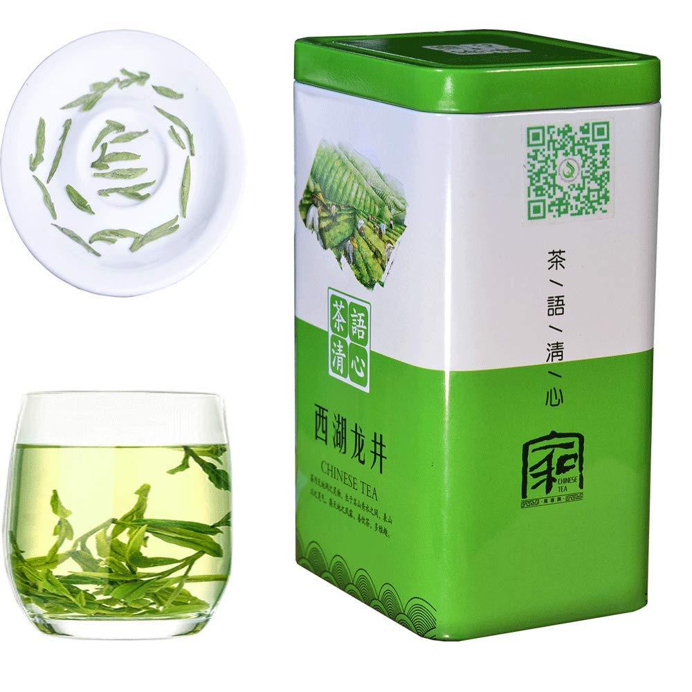 JQ West lake LongJing green Tea - Authentic Hangzhou Origin Dragon Well Loose Leaf - (First Grade - 5.3 oz/1 bag) Organic Natural Rich Antioxidant