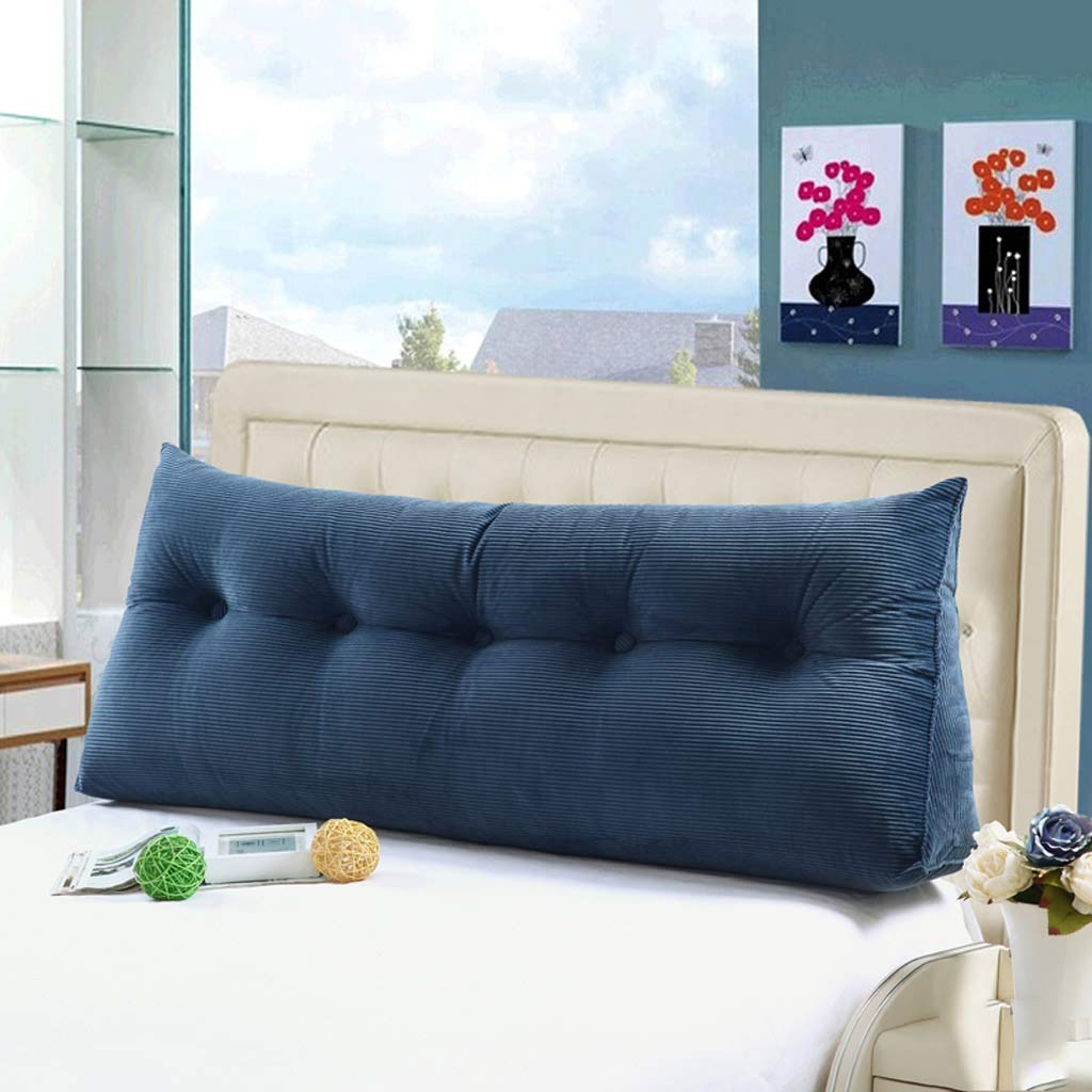 GAOYANG Bedside Triangle Cushion Pillow, Double Soft Pack Without Bedside Pillows, Sofa Back Waist Reading Pillow, Home Office Removable and Washable, 5 Colors, Available in 6 Sizes (200cm)