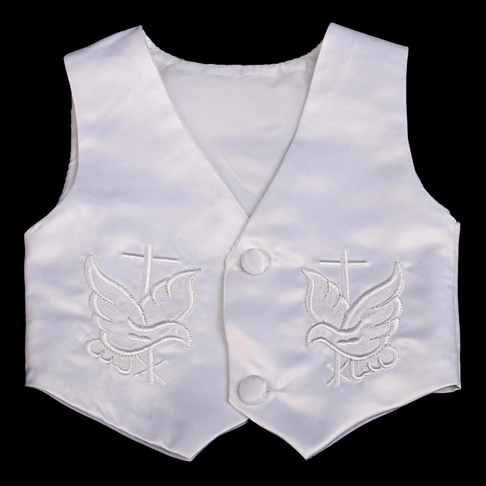 Traje de bautizo para beb/é 4 piezas, sat/én, mangas cortas//largas Lito Angels