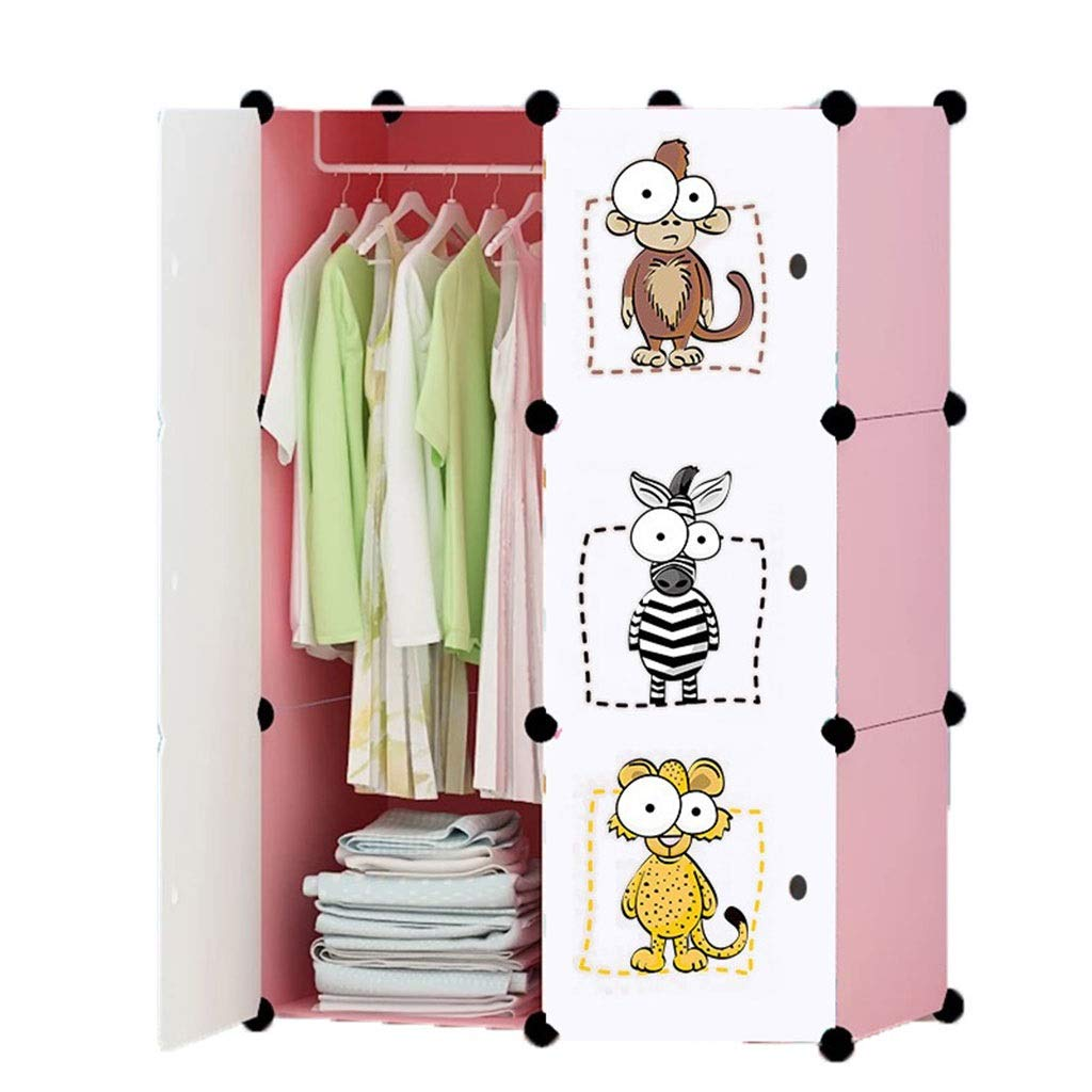PPKQ Combination Armoire Simple Space Saving Floor Folding Hanger Multi-Layer Portable Non-Woven for Hanging Clothes, Books, Toys (Size : 100x75x48) by PPKQ