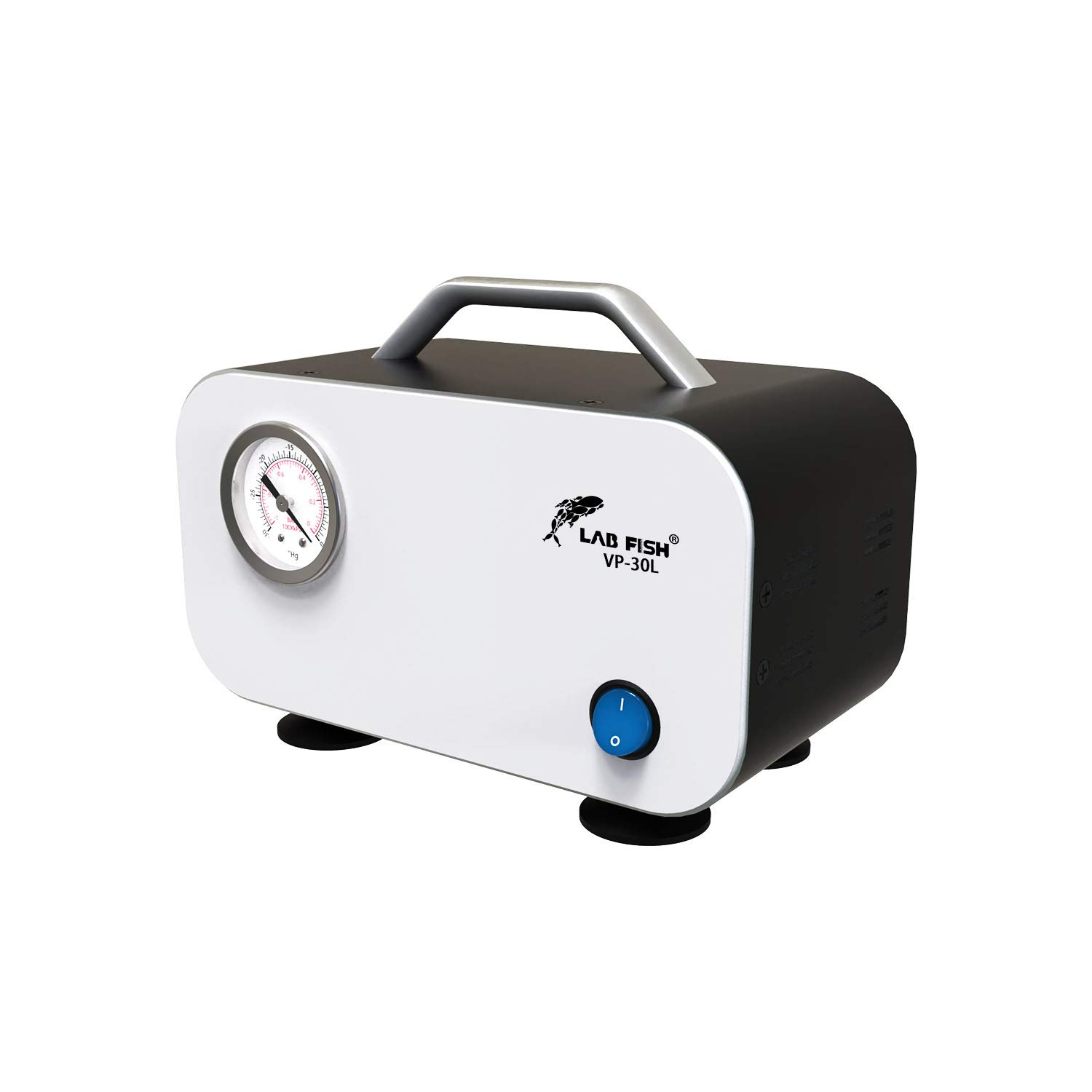 Lab Portable Oilless Diaphragm Vacuum Pump 30L/min with Rubber Tube,Positive and Negative Pressure