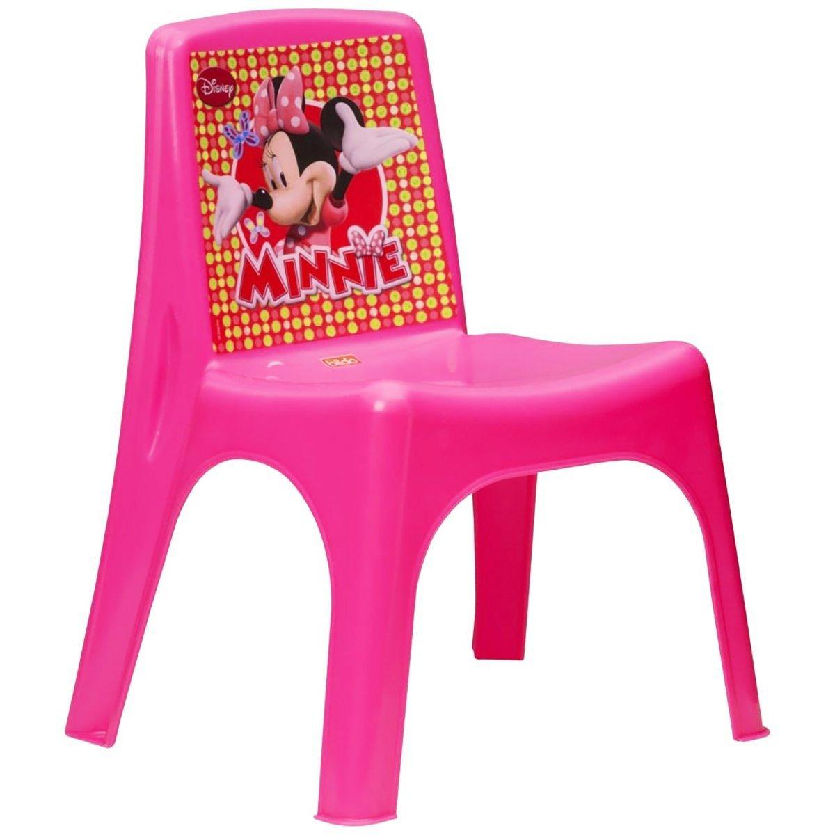 Disney Minnie Mouse per bambine, rosa plastica per cameretta sedia Bildo