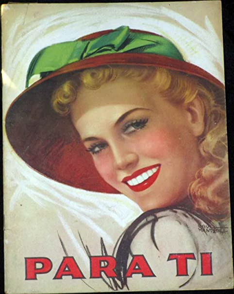 Para Ti / For You Fashion Couture Style April 1941 Vintage Magazine Like Vogue