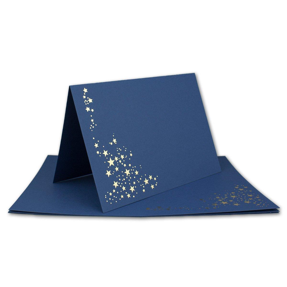 Faltkarten-Set mit Umschlägen DIN DIN DIN A6   Naturweiß mit Goldenen Metallic Sternen   200 Sets   für Drucker geeignet  Ideal für Weihnachtskarten - Qualitätsmarke  NEUSER FarbenFroh B07JNGNZQF | Verschiedene Arten und Stile  35a535