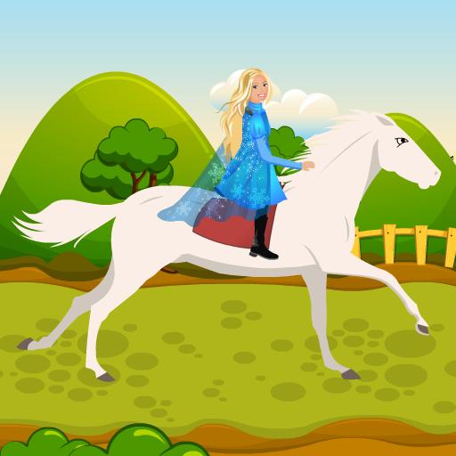 Princess Parbie Ride Horse