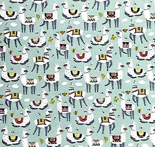 Warm & Snuggly Llama Llamas Alpaca Print Throw Blanket 50x60 by Warm & Snuggly