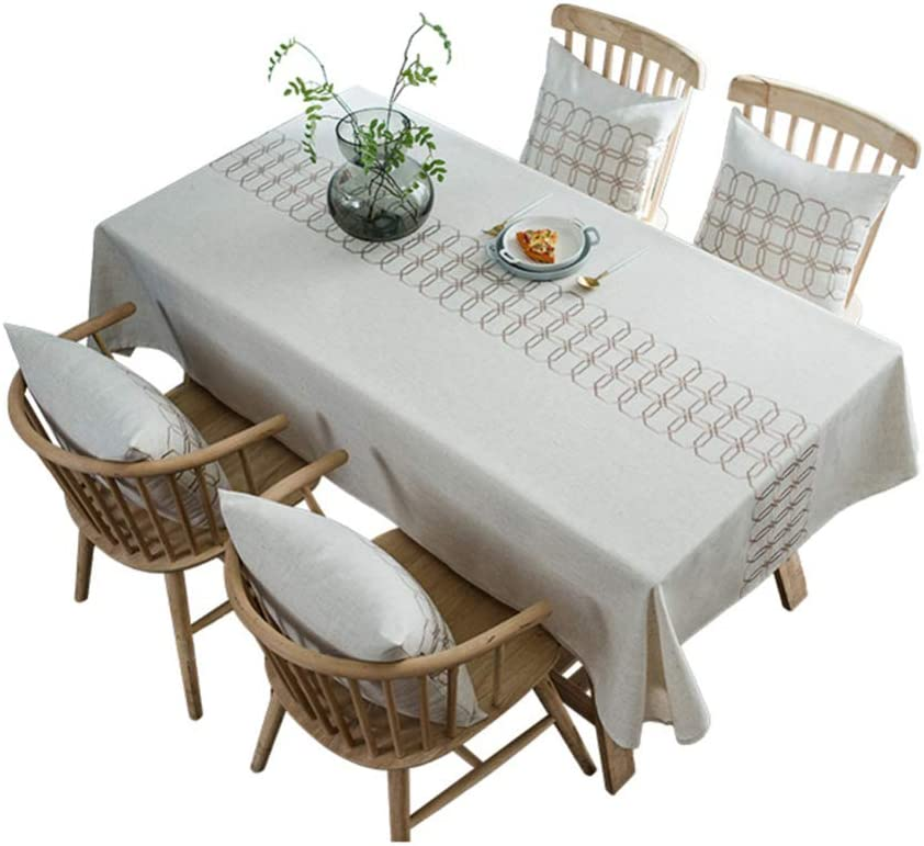 Waopinm Tischdecke Nordic Polyester Baumwolle wasserdicht
