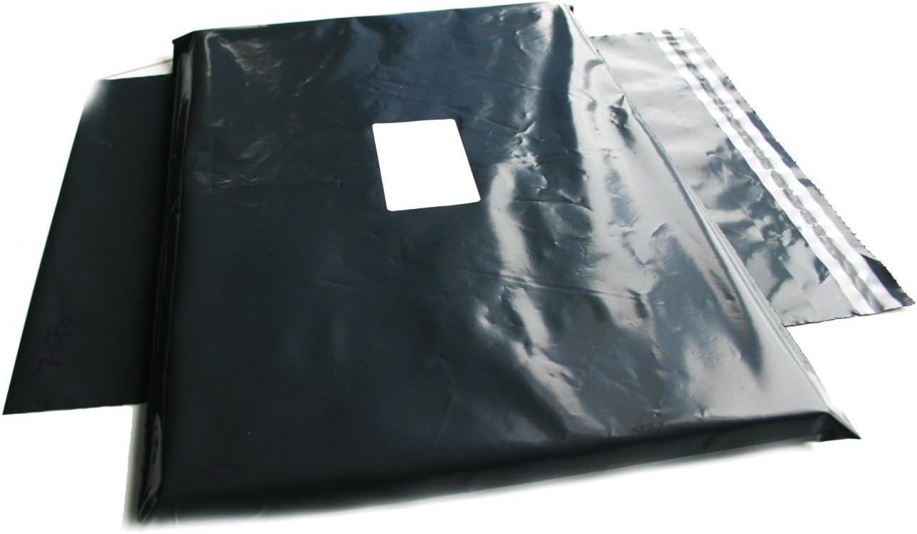 100 bolsas grandes para envíos postales, color gris, 43 x 61 cm