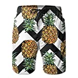 Adults Funny Pineapple Boardshorts Elastic Waist Quick Dry Board Shorts